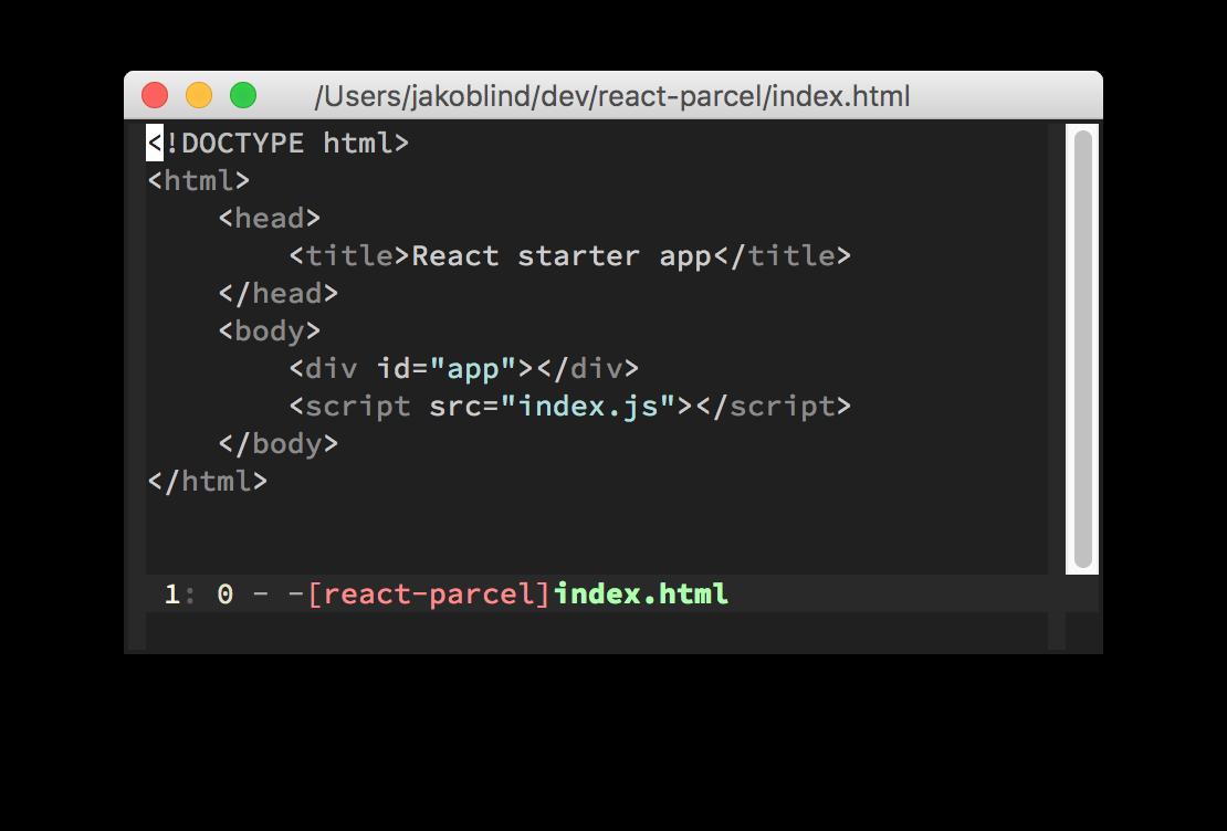 parcel html