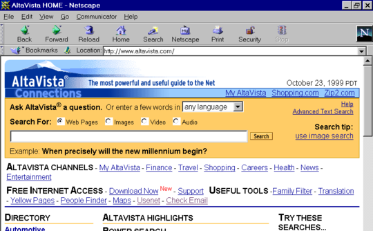 Altavista to solve programming problems